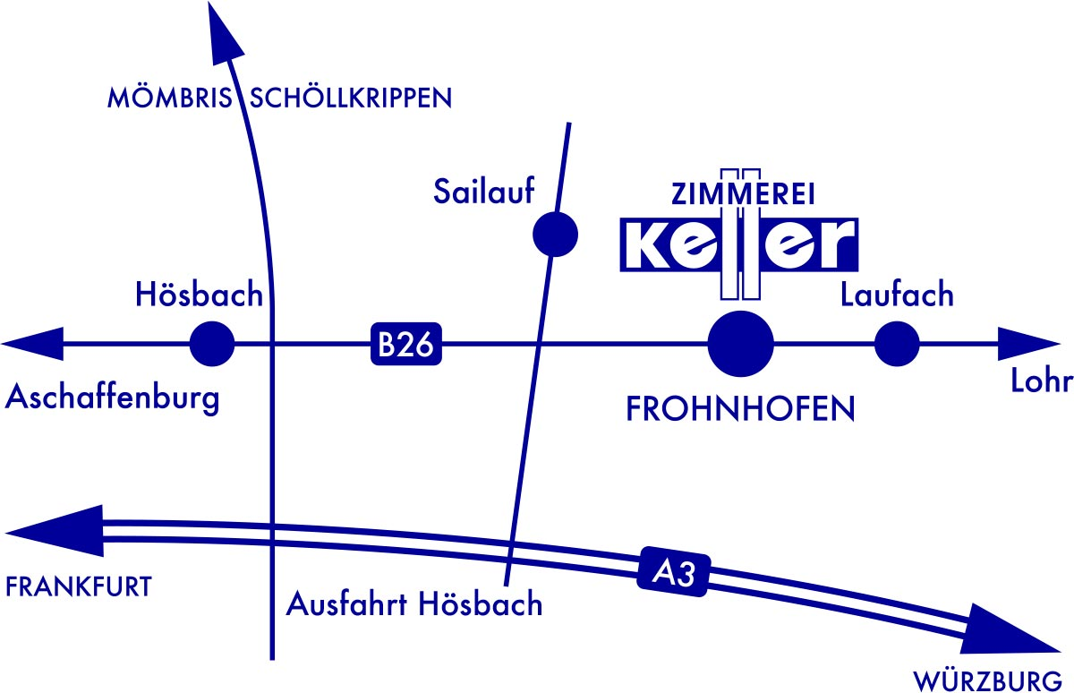 Zimmerei Keller Anfahrt
